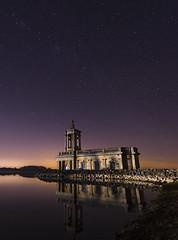 Normanton Church (Alex Hannam) Tags: rutland rutlandwater leicestershire church longexposure night nightsky stars reflection normantonchurch