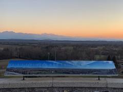 (Paolo Cozzarizza) Tags: italia friuliveneziagiulia pordenone spilimbergo panorama alba cielo alberi cartello muro