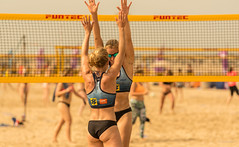 Victory. (Alex-de-Haas) Tags: 70200mm d750 dutch nederland nederlands netherlands nikkor nikon scheveningen zuidholland beach beachvolleyball beachvolleybal beachwear bikini competitie competition evenement event female fit fitdutchies fitness fun game girl girls meisje meisjes plezier sand sport sports sportswear strand summer sun sunny swimwear volleybal volleyball vrouw vrouwen wedstrijd woman women zand zomer zon zonnig