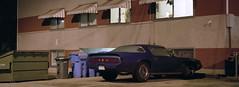 70s Firebird (Orion Alexis) Tags: film 35mm analog pontiac firebird classic car auto vancouver night urban panorama widescreen cinematic xpan fujifilm tx1 venus 800