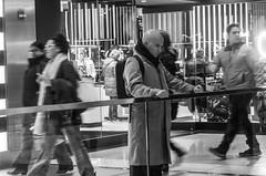 The man who analyzes everything around him. (Capitancapitan) Tags: man manhattan columbus circle mundo neury luciano fashion black white photography street