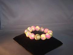 beaded bracelet (Bits of Clay) Tags: handmade bracelet beads polymerclay