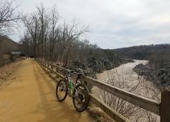 2019 Bike 180: Day 30 - Muddy Water (mcfeelion) Tags: cycling bike bicycle bike180 2019bike180 greatfallsmd potomacriver cocanal winter