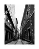 The alley II (BLANCA GOMEZ) Tags: spain mad madrid bw blackwhite arquitectura architecture light shadows silhouettes shapes textures urban city street calle callejon alley madridcentre madridcentro callepeatonal pedestrianstreet housing building hilly hill empinada