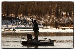 Fisherman on the Bow River. #photography #photooftheday #photoadaychallenge #canon7d #sigma150600 #nature #opcmag #project365 #calgary #yyc #fisherman #bowriver (PSKornak) Tags: photography photooftheday photoadaychallenge canon7d sigma150600 nature opcmag project365 calgary yyc fisherman bowriver river boat alberta canada