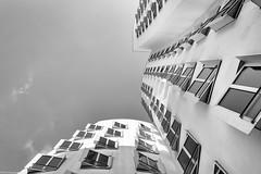 Gehry (fhenkemeyer) Tags: light clouds sky windows architecture nrw medienhafen düsseldorf