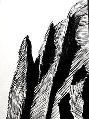 Mountains.... I think.   #sketch #penandink #doodle #marker #sketchbook #drinkbeermakeart #idothisforfun #artoftheday (e is outside) Tags: idothisforfun artoftheday marker sketch sketchbook doodle drinkbeermakeart penandink