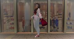 Window Shopping (Nancy Sinatra photography) Tags: shopping window city town front walking avatar second life virtual art woman
