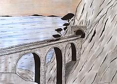 La côte  bleue Marseille. (J-M.I) Tags: aquarelle art house architecture haute 31 watercolour dessin illustration graphisme artiste exposition encre de chine crayons couleur