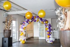 Bruiloft organic ballonnenboog