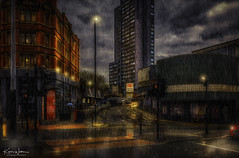 Oxford Road Station, Manchester (Kev Walker ¦ 10 Million Views..Thank You) Tags: architecture building city england manchester panoramic sky town water art background bridge britain buildings business canal castlefield center centre cityscape design downtown dusk europe european great kingdom landmark light metropolitan modern night places quays quayside reflection salford skyline skyscraper square symbol tourism tower travel twilight uk united urban view yellow railwaystation rain reflections clouds streetlamps