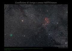 Costellazione di Auriga e cometa 46P/Wirtanen (AstroBetta) Tags: 2018 astropixelprocessor auriga capella comet46p constellation italy lightroom nebula night noel photoshop siena sky stars tuscany wirtanen