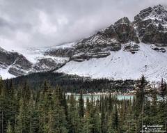 The Crowfoot Glacier and Bow Lake, Banff National Park (PhotosToArtByMike) Tags: crowfootglacier icefieldsparkway bowlake banffnationalpark canadianrockies banff albertacanada mountain mountains alberta