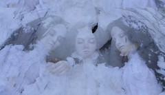 frozen dream (dolls of milena) Tags: d abjd resin doll portrait snow winter outdoor dolls sleeping reminisce tasha elfdoll natalie whispering grass black cherry aishat