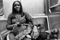 Imani (draketoulouse) Tags: chicago englewood green line cta train mother motherhood child city street streetphotography bw blackandwhite monochrome people commute