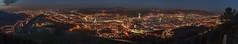 Panoramica nocturna de todo el Gran Bilbao I (Iñigo Escalante) Tags: bilbao bilbo bizkaia vizcaya euskadi pais vasco euskal herria españa spain europe industrial panoramica pano panoramic river ria nervion ibaizabal santurce santurtzi portugalete sestao erandio zorrotza zorroza vista monte alturas aerial ciudad city san mames iberdrola serantes cielo paisaje