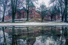 Hogwarts? (Fredrik Lindedal) Tags: castle reflection building trees snow hill sweden sverige lindedal gothenburg göteborg