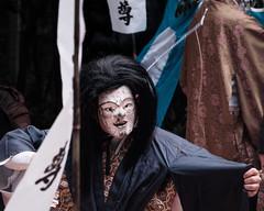 kagura mask (l e o j) Tags: miyazaki nichinan kitago ushiodake shrine jinja kagura 宮崎 日南 北郷 潮嶽神社 神楽 fujifilm dance mask traditional culture japanese 舞 面 お面 踊り 祭り