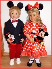 Meine Faschingsmäuse / My carnival mice (ursula.valtiner) Tags: puppe doll luis bärbel künstlerpuppe masterpiecedoll fasching carnival faschingskostüme carnivalcostume mickeymouse minniemouse mickymaus minniemaus