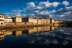 specular (-dubliner-) Tags: florence reflection river arno clouds
