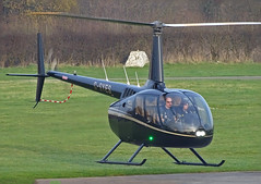 G-SYES Robinson R-66 (SteveDHall) Tags: aircraft airport aviation airfield aerodrome manchesterbarton barton bartonaerodrome cityairportmanchester 2019 generalaviation ga helicopter gsyes robinson r66 robinsonr66