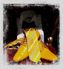 Going out on the Town (Audrey A Jackson) Tags: canon60d spain malaga shoes shirt tie colour yellow shop window