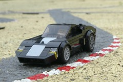 On The Racetrack - Ford GT40 (captain_joe) Tags: toy spielzeug 365toyproject lego minifigure minifig moc car auto 6wide ford gt40