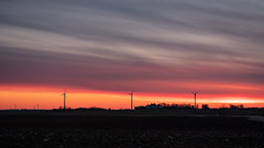 Red sky (jarnasen) Tags: fuji xt20 fujinon xc50230mmf4567 tripod sky clouds östergötland outdoor östgötaslätten väderstad landskap landscape nordiclandscape nature geo geotag gallery järnåsen jarnasen copyright color windmills panorama view morning orange red dawn sunrise sverige sweden scandinavia sun colour colorful atmosphere