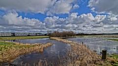 Flooded landscape (Steenjep) Tags: landskab landscape field mark himmel sky gullestrup hdr cloud stream å flooded pole tree træ