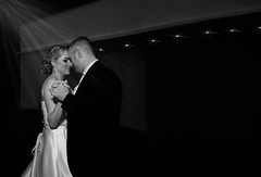 ~Dancing is silent poetry~ (Lorrainemorris) Tags: 1635mm blackandwhite starburst weddingdress people portrait marriage love zeiss sony sony7rm2 monochrome music 1stdance wedding