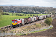 66131 at Abbotswood [6M41] 04.03.2019 (Wolfie2man) Tags: redshed shed dbcargo dbc class66 railfreight worcestershirerailways 6m41 66131 abbotswoodjunction abbotswood
