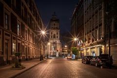 Mexico City stars (reinaroundtheglobe) Tags: mexico mexicocity mexicocitydf street road city night nightphotography cars historicalbuilding church cathedral illuminated