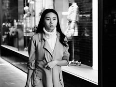 Winter is Coming (McLovin 2.0) Tags: candid portrait street streetphotography people urban city melbourne autumn jumper jacket polo neck eyes shop shopping window olympus 45mm bokeh em1 bw blackandwhite monochrome style fashion