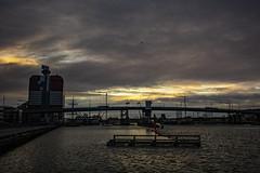 Dramatic Afternoon (Rudi Pauwels) Tags: goteborg gothenburg sverige sweden schweden gothiariver gotaalven 3651 sunset bridge windy waves afternoon sigma 1850mm sigma1850mm nikon d7100 nikond7100 2019onephotoeachday sky water 52in2019challenge 152