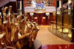 Royal Theater (Prayitno / Thank you for (12 millions +) view) Tags: rccl royal caribbean international cruise ship lines line harmony seas harmonyoftheseas theater sexy legs gold golden leg dancing dancer shoes art display public arts sculptor modern expression