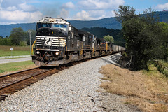 Leading the Pack (weshendrix) Tags: norfolk southern ns train railfanning railfan railroad railroading rails freight coal wildwood georgia ga ags north district emd sd60m diesel engine locomotive vehicle outdoor mountains sky clouds chattanooga tn tennessee