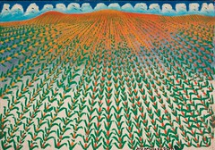 "José Antonio da Silva, Campo de Abacaxi (Pineapple Field), 1951 (Selma Morgenstern) Tags: brazil 1951 color field landscape painting ""brazilianartist"""