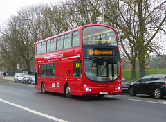 HYT WVL212 - S1HYT - OSF - ELTHAM ROAD - SAT 16TH FEB 2019 (Bexleybus) Tags: eltham road south east london rail replacement bus service eastern trains bexleyheath line land slide 2019 wrightbus gemini volvo hire your transport wvl212 s1hyt