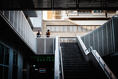 (fernando_gm) Tags: 35mm fujifilm madrid street xt1 calle airelibre callejera city colour color ciudad stairs escaleras gente people person personas afterwork fuji f14 geometry geometría human azca
