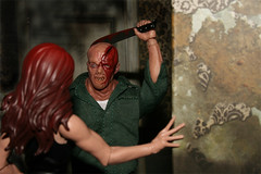 Horrible Date (danlogan49) Tags: machete jason scared bloody ugly deformed mezco horror fridaythe13th counselor