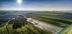 A wonderful accident (Wim van de Meerendonk, loving nature) Tags: biesbosch drimmelen djimavicpro drone aerial blue bright color colors colours colour green landscape light netherlands nederland outdoors outdoor panorama reflection sky sun shadow tree trees thenetherlands wimvandem