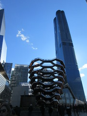 Visiting The Vessel Sculpture at Hudson Yards 4154 (Brechtbug) Tags: 2019 march visiting the vessel sculpture hudson yards tower near 34th street midtown manhattan new york city nyc 03172019 west side construction center cityscape architecture urban landscape scape view cityview shadow silhouette december close up skyline skyscraper railroad rail yard train amtrak tracks below grown stair stairs buildings above staircase dingus nypd mini squad cars tiny