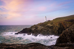 Trevose Lighthouse (s.pither) Tags: cliff coast cornwall lighthouse sea seascape sunset trevose waves