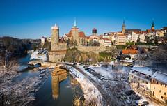 Cold winter day in Bautzen, Saxony (Uwe Kögler) Tags: bautzen saxony sachsen deutschland city cityscape stadtbild spree winter fluss altstadt germany spiegelung schnee snow