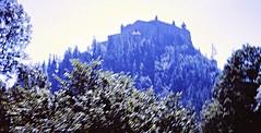 Hohenwerfen Castle (zeesstof) Tags: 1969 35mmslidefilm austria erlebnisburghohenwerfen hohenwerfencastle kodachrome mamiya film fromcitytomountains geo:lat=4748383832 geo:lon=1318565442 geotagged medieval roadtrip summerholiday zeesstofsmom