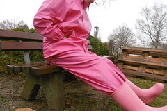 Bench (lulax40) Tags: pvc abeko fetish rubberboots hunter farmerrain