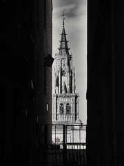 Spying (Regina Valim) Tags: cathedral catedraldetoledo spain spying bw gothic