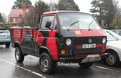 Volkswagen Transporter T3 (90D22081). (Fred Dean Jnr) Tags: riacnationalclassiccarshow riacnationalclassiccarshow2013 volkswagen transporter t3 90d22081 rds simonscourt dublin february2013