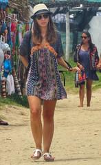 Summer time (carlos_ar2000) Tags: paseo walk verano summer chica girl mujer woman bella beauty sexy calle street color colour sombrero hat dof retrato portrait cabopolonio rocha uruguay