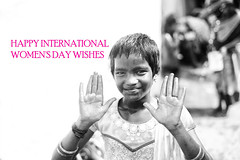 HAPPY INTERNATIONAL WOMEN'S DAY (Nithi clicks) Tags: womens day womensday wishes bw cute girl